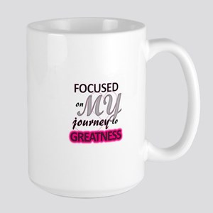 focused on MY journey to greatness Mugs