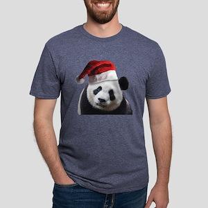 christmas panda wearing a s Mens Tri-blend T-Shirt