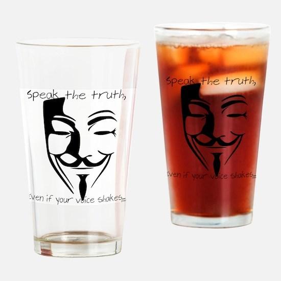 Cute Free thinking Drinking Glass