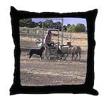 Herding Dog Art Throw Pillow