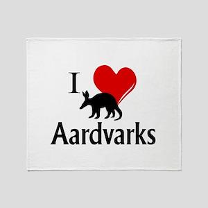 I Heart Aardvarks Throw Blanket