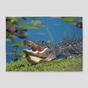 Swamp Alligator Everglades 5'x7'Area Rug