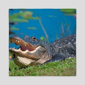 Swamp Alligator Everglades Queen Duvet