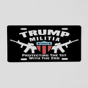Trump Militia Aluminum License Plate