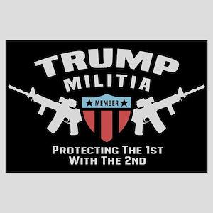 Trump Militia Large Poster