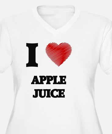 I Love Apple Juice Plus Size T-Shirt