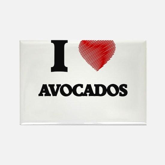 I Love Avocados Magnets
