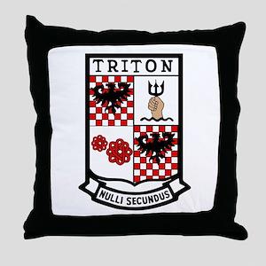 USS Triton  (SSRN 586) Throw Pillow