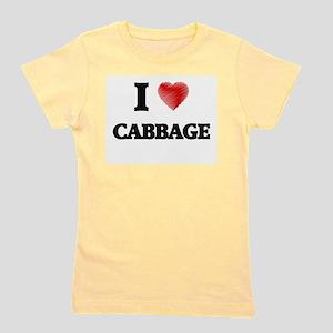 I Love Cabbage Girl's Tee