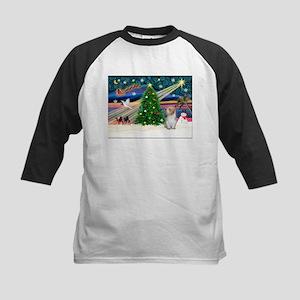 Xmas Magic/PBGV (#3) Kids Baseball Jersey