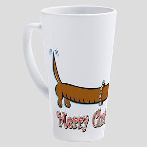 Merry Christmas Doxie 17 oz Latte Mug