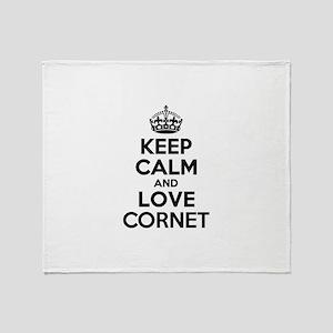 Keep Calm and Love CORNET Throw Blanket