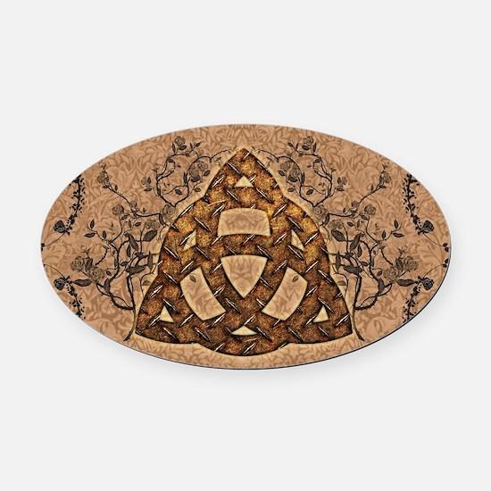 The celtic sign Oval Car Magnet