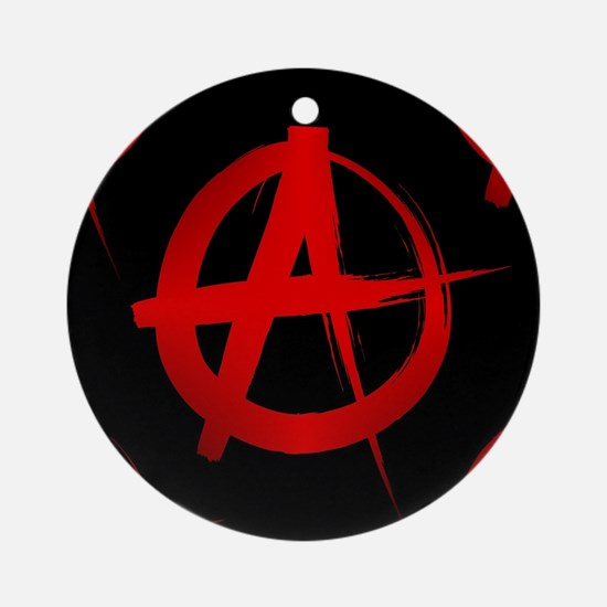 anarchy sign Round Ornament