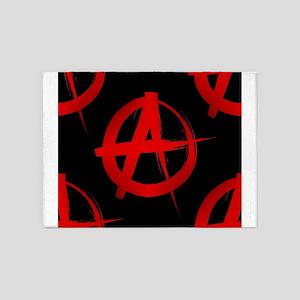 anarchy sign 5'x7'Area Rug