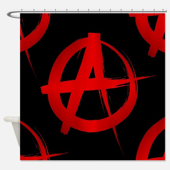anarchy sign Shower Curtain