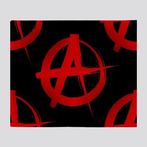 anarchy sign Throw Blanket