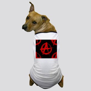 anarchy sign Dog T-Shirt