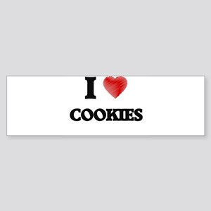 I Love Cookies Bumper Sticker