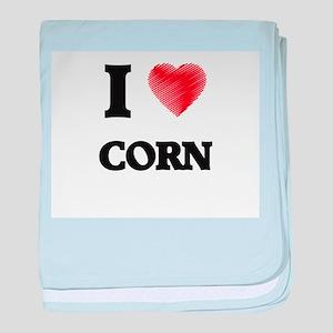I Love Corn baby blanket