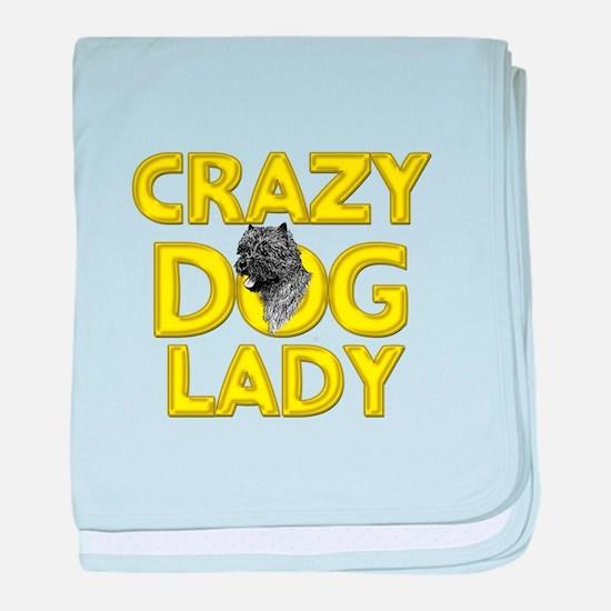 Crazy Dog Lady baby blanket