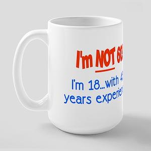 Imnot60im18with42yearsexperienceRED Mugs
