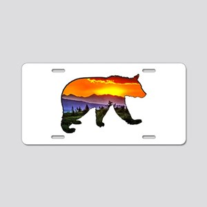 BEAR RISING Aluminum License Plate