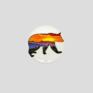 BEAR RISING Mini Button