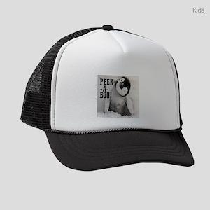 penguin: peek a boo! Kids Trucker hat