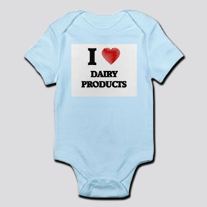 I Love Dairy Products Body Suit
