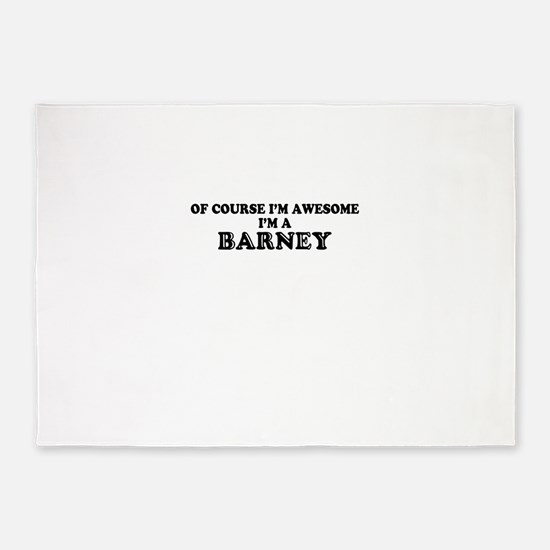 Of course I'm Awesome, Im BARNEY 5'x7'Area Rug