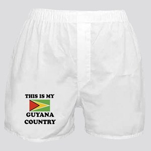This Is My Guyana Country Boxer Shorts