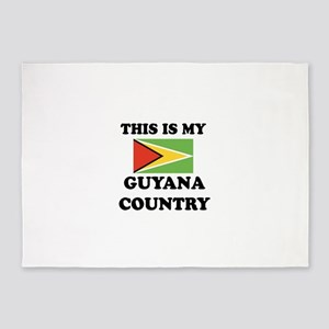This Is My Guyana Country 5'x7'Area Rug
