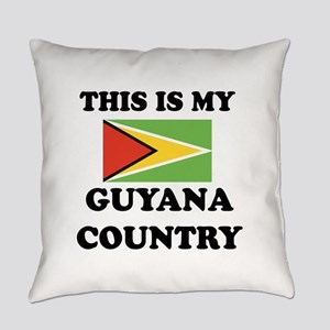 This Is My Guyana Country Everyday Pillow