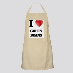 I Love Green Beans Apron