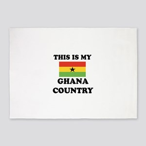 This Is My Ghana Country 5'x7'Area Rug