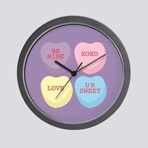 Conversation Hearts Wall Clock