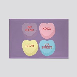Conversation Hearts Rectangle Magnet