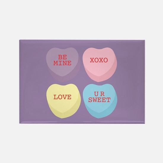 Conversation Hearts Rectangle Magnet (10 pack)