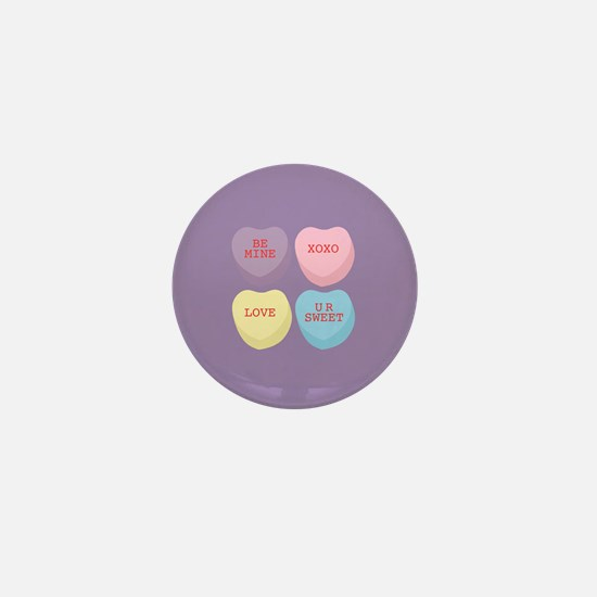 Conversation Hearts Mini Button