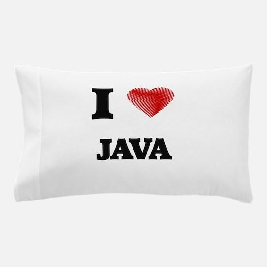 I Love Java Pillow Case
