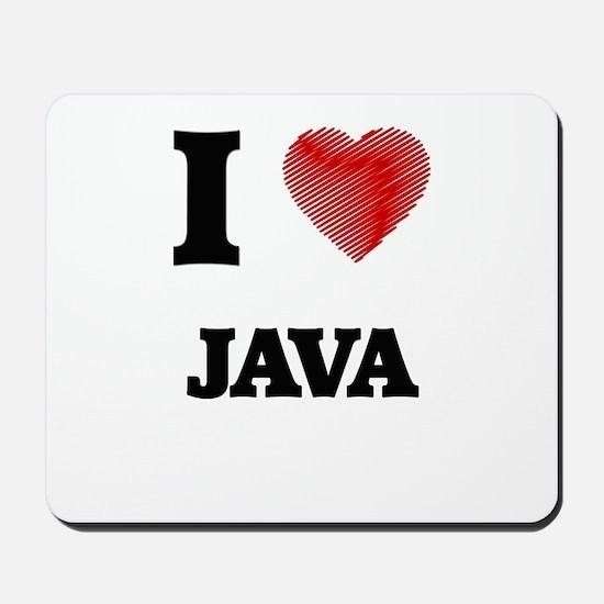 I Love Java Mousepad