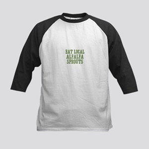 Eat Local Alfalfa Sprouts Kids Baseball Jersey