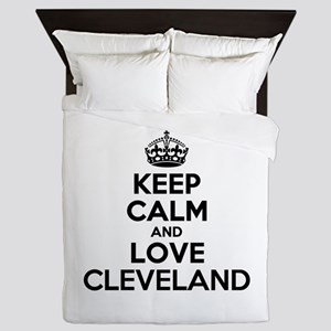 Keep Calm and Love CLEVELAND Queen Duvet