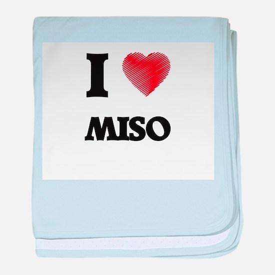 I Love Miso baby blanket