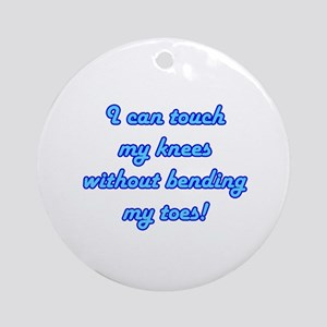 Touch My Toes Ornament (Round)