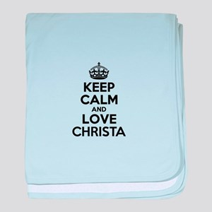 Keep Calm and Love CHRISTA baby blanket