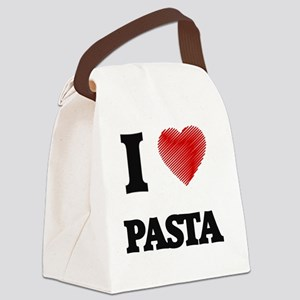 I Love Pasta Canvas Lunch Bag