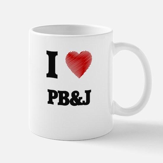 I Love Pb&J Mugs