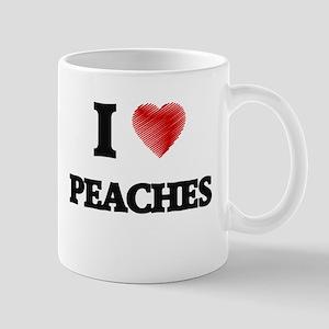I Love Peaches Mugs